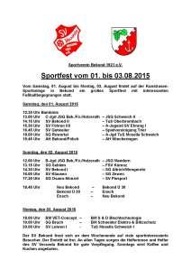 Turnierplan 2015